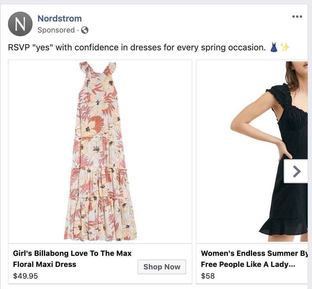 Catálogo de produtos no facebook ads