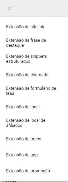 Menu de Extensões > + > Extensão Local