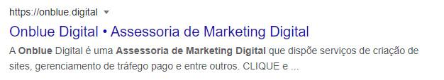 Assessoria de Marketing Digital Onblue Digital